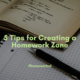 5 Tips for Creating a Homework Zone